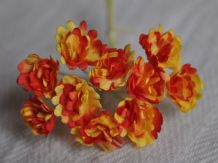 RED YELLOW GYPSOPHILA / FORGET ME NOT Mulberry Paper Flowers